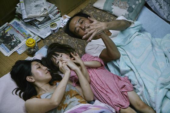 고레에다 히로카즈 감독의 새 영화 '만비키 가족'. [칸영화제]