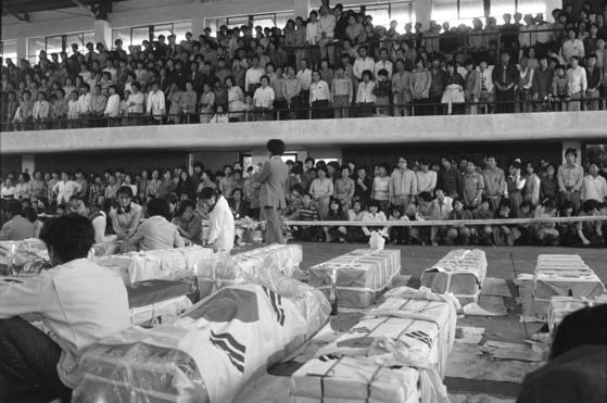 1980년 5월 계엄군에 의해 숨진 광주시민들의 시신. [중앙포토]