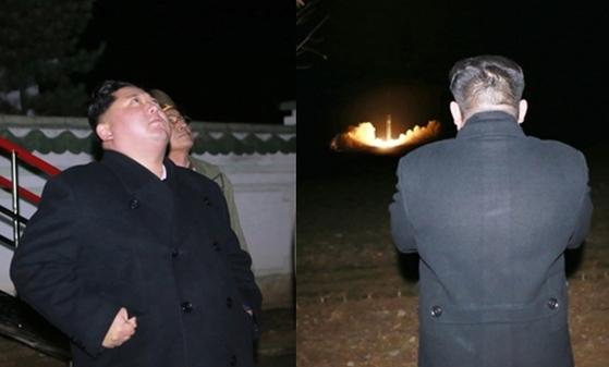 화성-15형 미사일 발사를 지켜보는 김정은 북한 노동당 위원장 [사진 조선중앙통신]