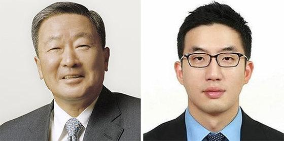구본무(左), 구광모(右)