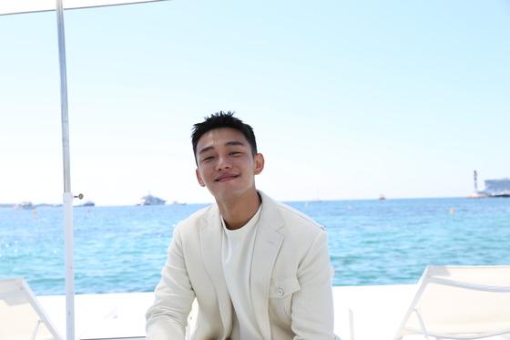 제71회 칸영화제 경쟁부문에 초청된 '버닝' 주연 유아인을 18일(현지시간) 칸 해변에서 만났다. [사진 CGV아트하우스]