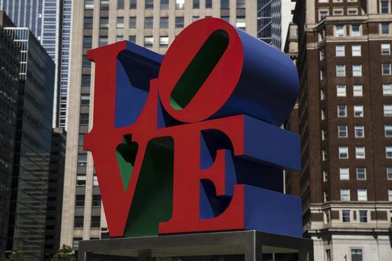 로버트 인디애나의 대표작 'LOVE' [AP=연합뉴스]