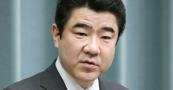 노가미 고타로 일본 관방 부장관. [중앙포토]