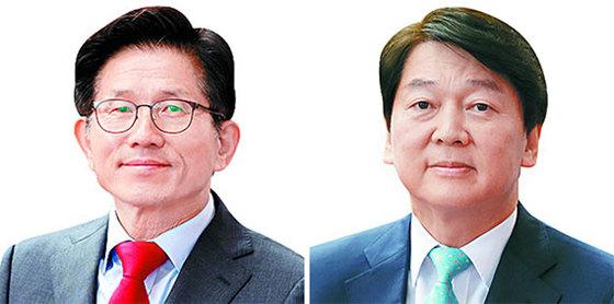 김문수(左), 안철수(右). [연합뉴스]