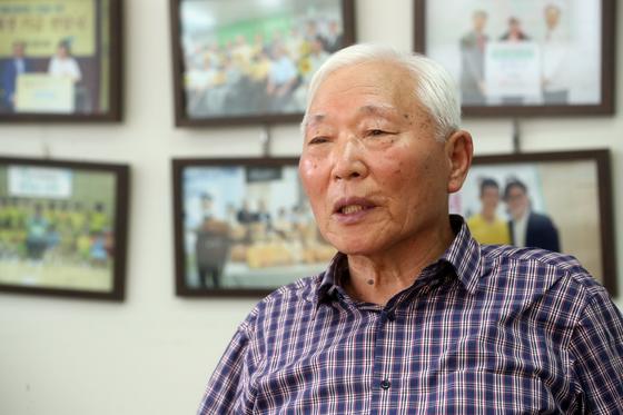 """송준근 회장은 '한국사회가 이미륵 기념관에 관심을 가져달라""""고 당부했다. [최정동 기자]"""