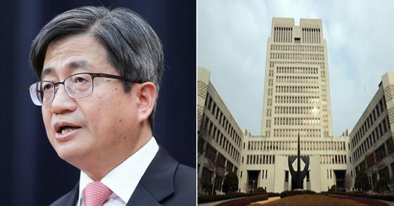김명수 대법원장(왼쪽)과 대법원 전경(오른쪽) [연합뉴스]