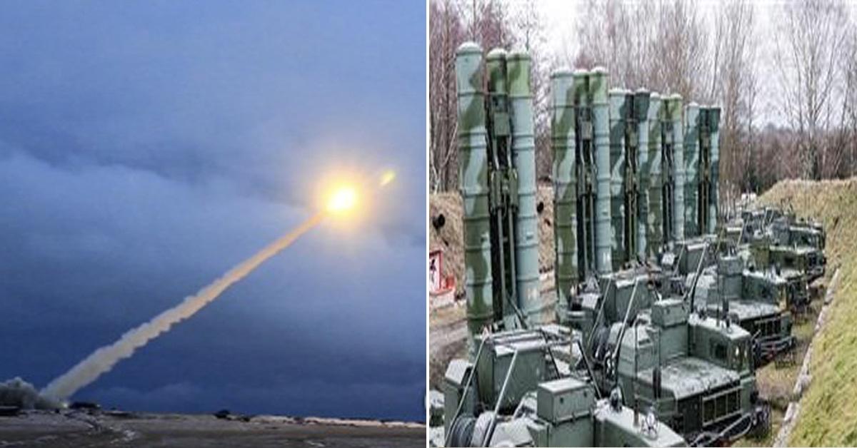 러시아 미사일(왼쪽)과 러시아 방공미사일체계 S-400 [AP,타스=연합뉴스 자료사진]
