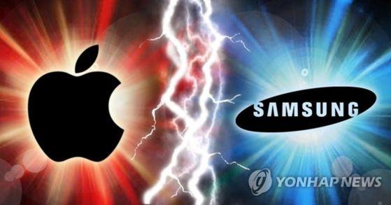 24일(현지시간) 미국 법원이 애플에 대한 삼성전자의 디자인특허침해에 대한 배상액으로 5억3300만 달러를 평결했다. [연합뉴스]
