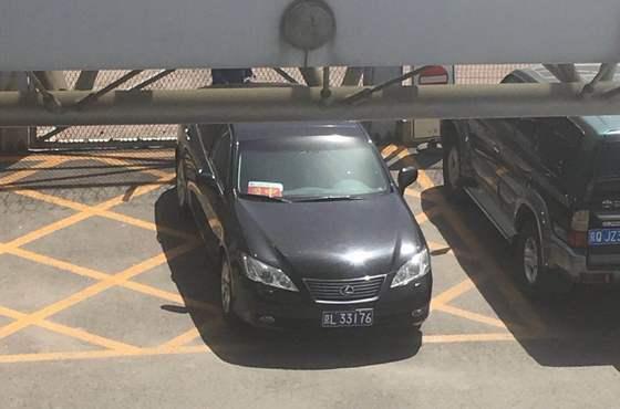 베이징 공항에서 목격된 의전 차량 [연합뉴스]