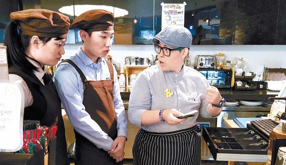 꿈친베이커리&카페는 장애인이 최저 생계비 이상의 근로소득을 얻을 수 있도록 '제과제빵 및 바리스타 교육'을 실시하고 있다. [사진 여의도순복음교회]