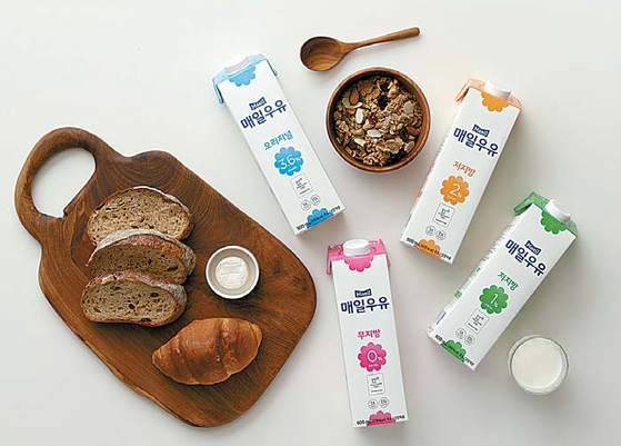 매일유업은 후레쉬캡을 적용한 새로운 패키지의 '매일우유 후레쉬팩'을 선보였다. [매일유업]