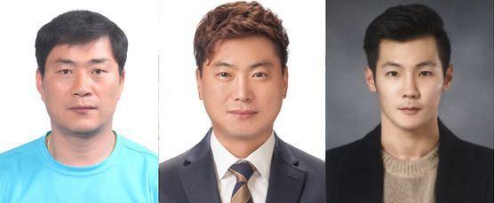 왼쪽부터 김해원, 김영진, 박재홍.