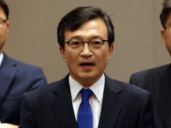 김의겸 청와대 대변인. [뉴스1]