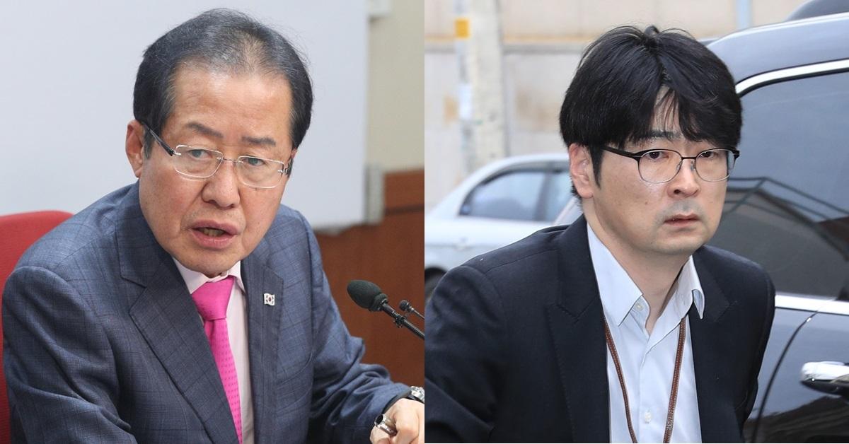 자유한국당 홍준표 대표(왼쪽), 탁현민 청와대 비서관. [뉴스1, 연합뉴스]