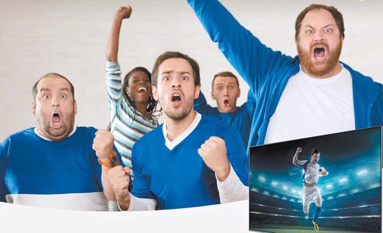 세계 TV 시장 1위인 삼성전자는 55인치부터 82인치까지 이르는 2018년 QLED TV 라인업으로 초대형 TV 시장을 적극적으로 공략하고 있다. [사진 삼성전자