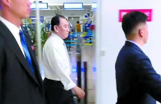 베이징 공항서 포착된 김영철