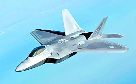 미 공군의 스텔스 전투기인 F-22. [사진 록히드마틴]