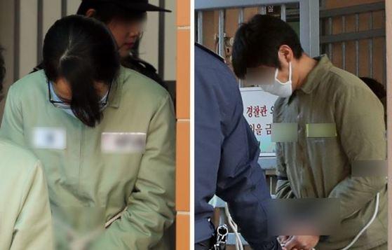 준희양 친부 고모씨(오른쪽)와 친부 내연녀 이모씨. [뉴스1]