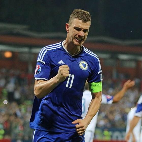 보스니아 헤르체고비나 공격수 에딘 제코. 그는 독일과 이탈리아 프로축구 득점왕 출신이다. [제코 인스타그램]