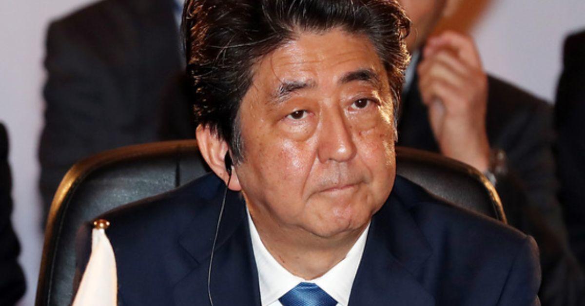 아베 신조 일본 총리. 청와대사진기자단