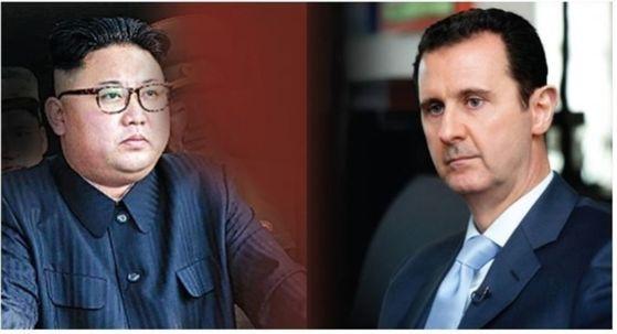 김정은 북한 국무위원장과 바샤르 알아사드 시리아 대통령. [중앙포토]