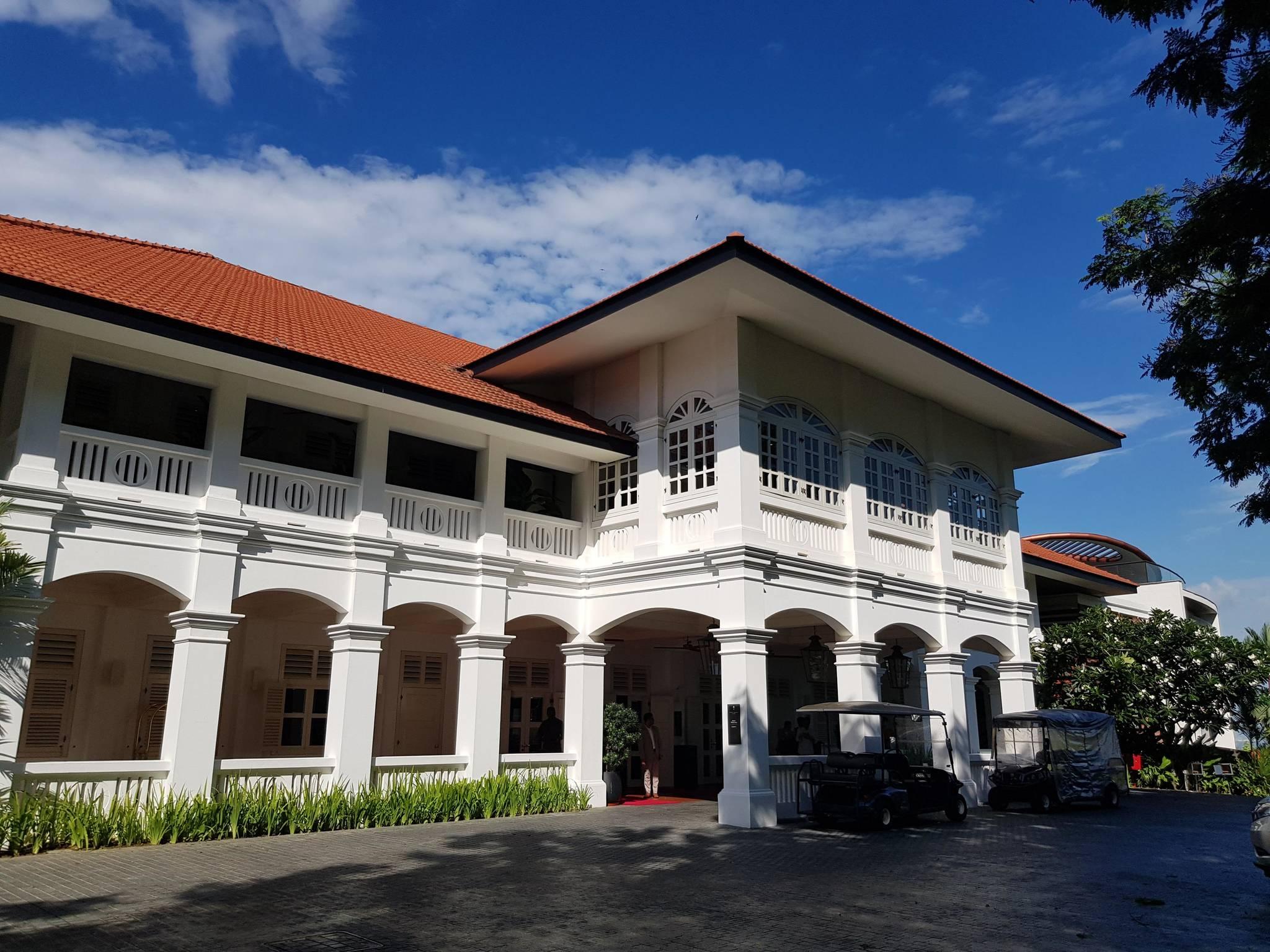 4일 낮 촬영된 싱가포르 센토사 섬의 고급 호텔인 카펠라 호텔 본관. [싱가포르=연합뉴스]