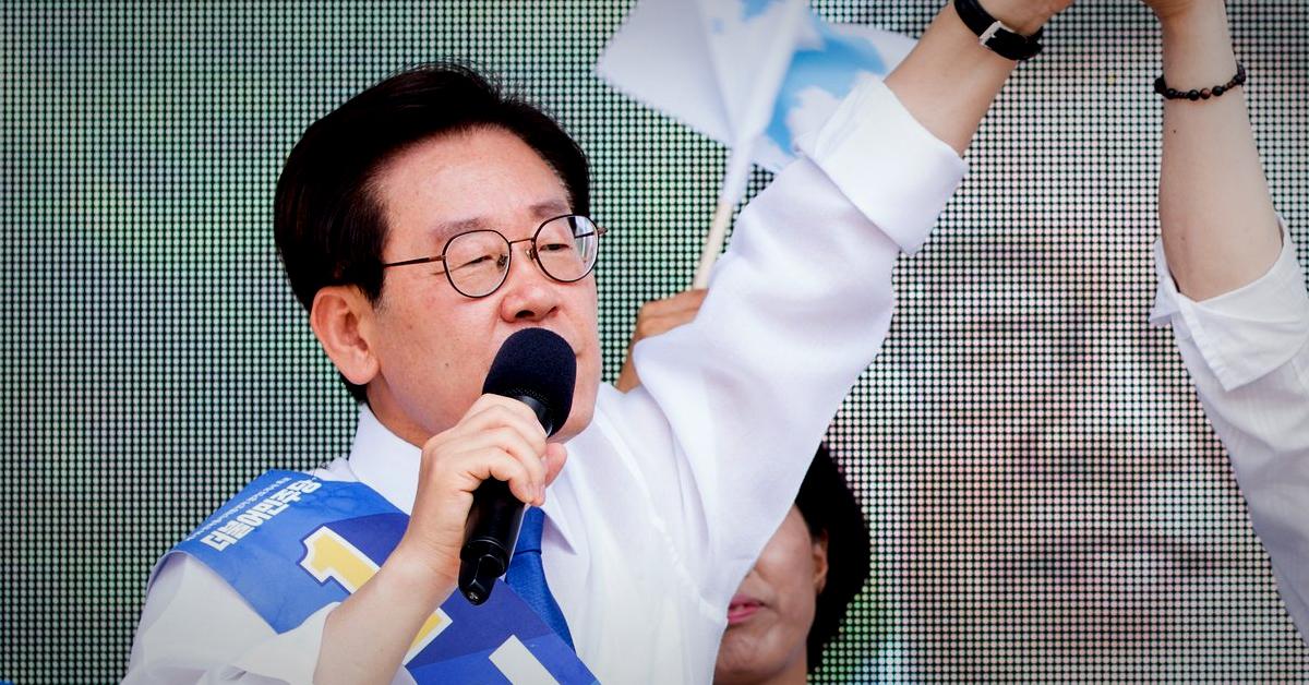 이재명 더불어민주당 경기지사 후보가 7일 지지를 호소하고 있다. [사진 이재명 후보 캠프]