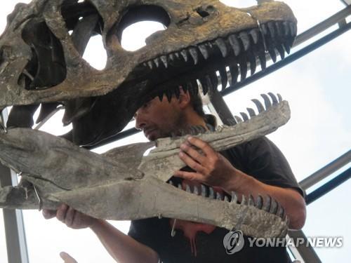 에펠탑 1층서 경매된 9m짜리 신종 육식공룡 [AFP=연합뉴스]