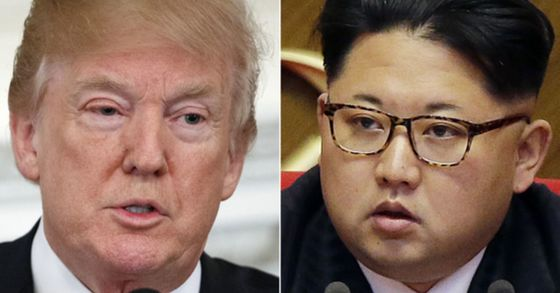 도널드 트럼프 미국 대통령과 김정은 북한 노동당 위원장. 12일 싱가포르에서 첫 대면을 한다. [연합뉴스]
