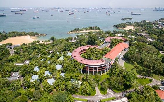12일 열리는 북미 정상회담 장소로 선정된 싱가포르 센토사섬 내 카펠라 호텔. [뉴스1]