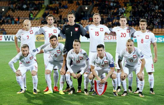 폴란드 축구대표팀. [로이터=연합뉴스]