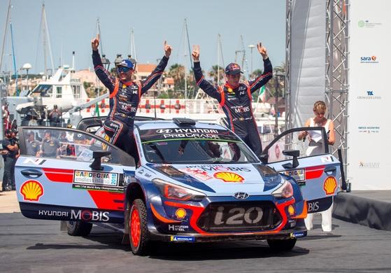 현대차 월드랠리팀 이탈리아 대회서 통산 10번째 우승