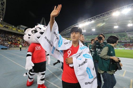 한국축구대표팀 미드필더 이승우. [뉴스1]
