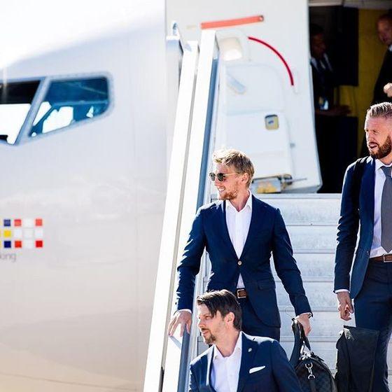 스웨덴 축구대표팀 에이스 포르스베리는 12일 러시아월드컵 베이스캠프 겔렌지크에 도착했다. [포르스베리 SNS]