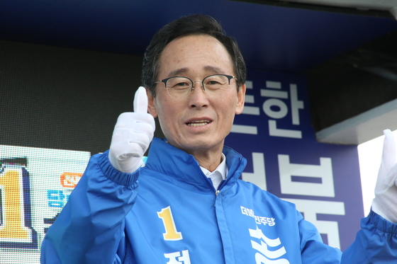 송하진 전북도지사 후보의 유세 모습. [사진 송하진 후보 캠프]