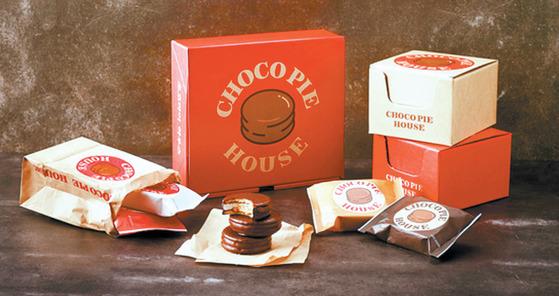 디저트 카페 '초코파이 하우스'에서 판매하는 눈처럼 부드러운 식감의 프리미엄 디저트 초코파이.