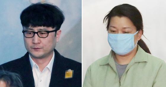 '국민의당 제보조작'으로 재판에 넘겨진 이준서(왼쪽), 이유미(오른쪽)씨. [뉴스1]
