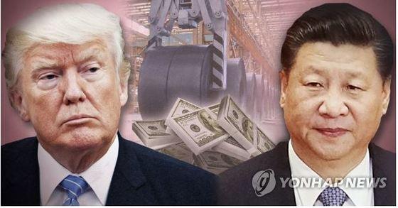 무역전쟁을 예고한 트럼프 미국 대통령과 시진핑 중국 국가주석. [연합뉴스]