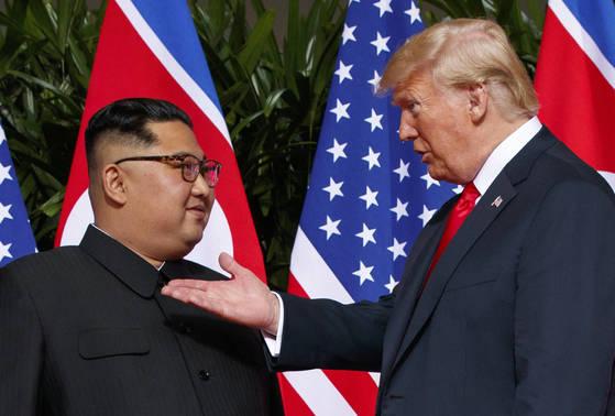 김정은 위원장과 도널드 트럼프 미국 대통령 [AP=연합뉴스]