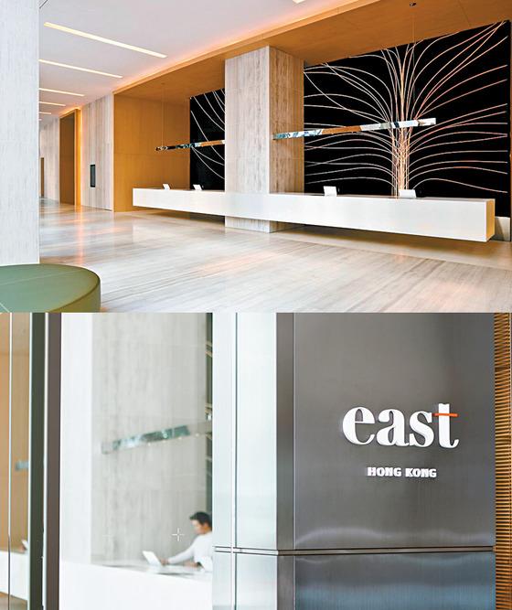 중국 베이징과 미국 마이애미에 있는 이스트 호텔 작업은 모던해 보이는 로고와 로비의 빛을 통과하는 나무 벽화 등 독특한 디자인이 특징이다.