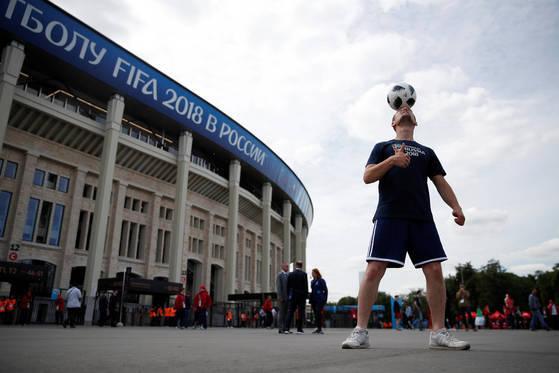 러시아 모스크바의 루즈니키 스타디움 전경. [로이터=연합뉴스]