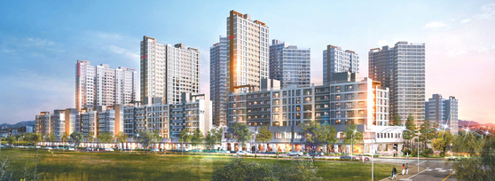 서울 강북권 최대 규모 뉴타운인 성북구 장위뉴타운 7구역에 브랜드 대단지 아파트인 꿈의숲 아이파크가 선뵌다. 사진은 꿈의숲 아이파크 투시도.
