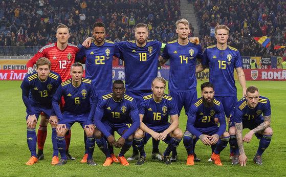 스웨덴 축구대표팀. [로이터=연합뉴스]