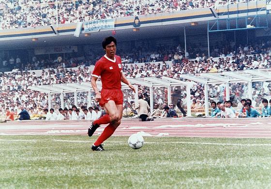1986년 멕시코월드컵 본선에서 활약할 당시 차범근. [중앙포토]