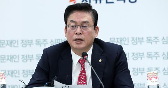 정우택 자유한국당 의원. 박종근 기자