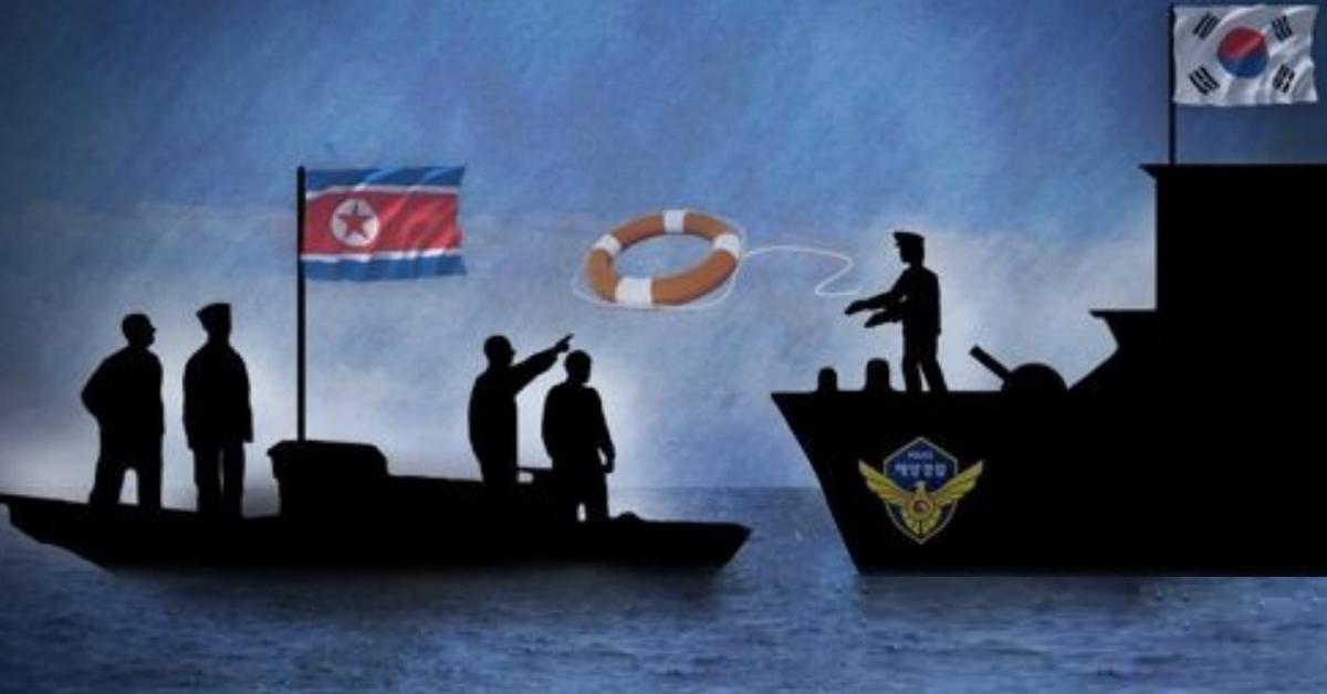 동해에서 표류하다 최근 한국 해경에 구조된 북한 선원 5명 중 1명이 귀순의사를 밝혔다. [연합뉴스]