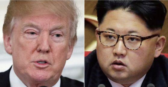 도널드 트럼프 미국 대통령과 김정은 북한 국무위원장. [연합뉴스]