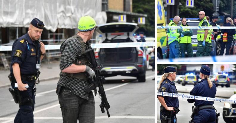 스웨덴 말뫼의 총격사건 현장. [사진 AFPBBNews 뉴스1]