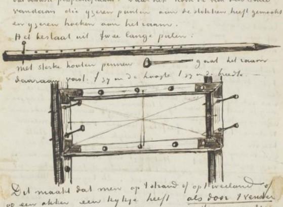 고흐가 사용했던 원근 틀을 그려서 동생 테오에게 편지함(1882). [사진 송민]