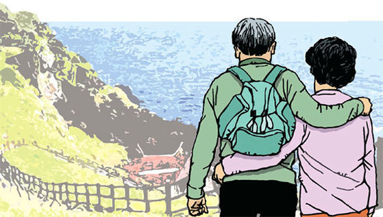각자의 영역에서 생활하다가 맞는 은퇴 후가 진짜 부부생활의 시작이라고 볼 수 있다. [일러스트=김회룡]
